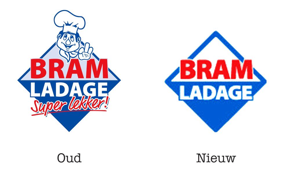 Bram Ladage Logo Oud VS Nieuw