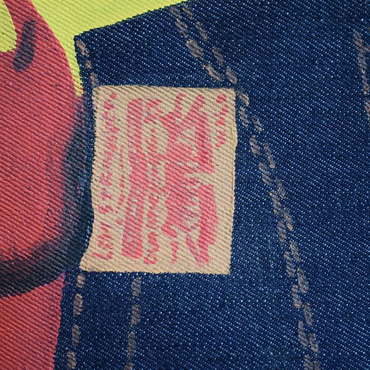 Shon Price Levi's Hand Painted Vintage Denim Banner Overall Cowboy 11.jpg